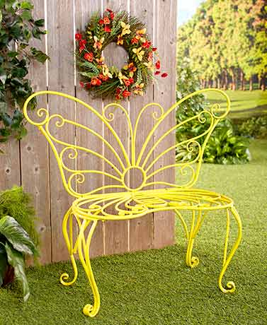 Butterfly Wreath or Bench
