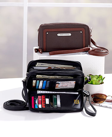 Stone Mountain Leather Crossbody Wallets