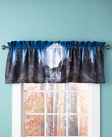 Wolf Pack Window Valance