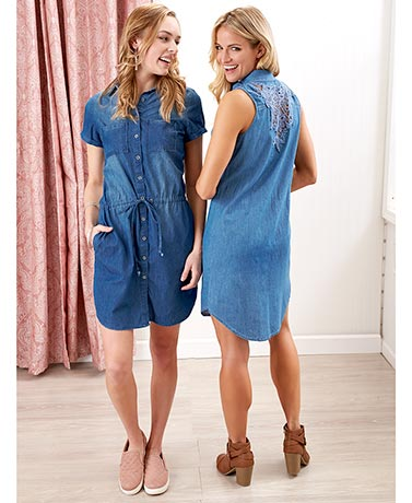 Summer Weight Denim Dresses