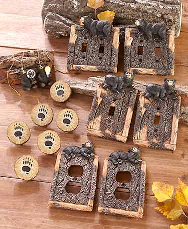 Black Bear Decorative Hardware