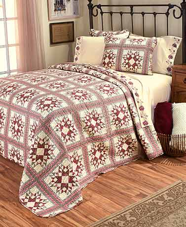 Rosewood Quilted Bedding or Sheet Sets