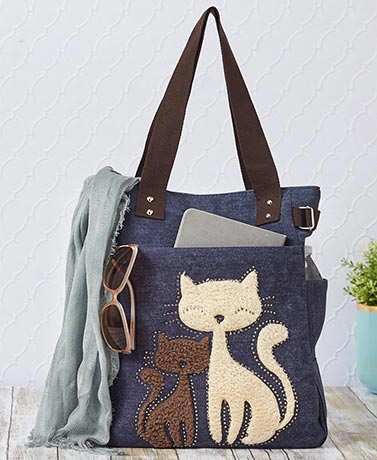 Lovely Cats Canvas Tote Bags