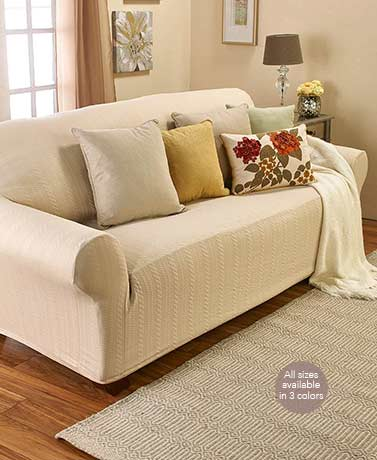 Darla Stretch Cable Slipcovers