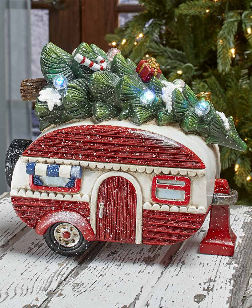 lighted decorations retro camper
