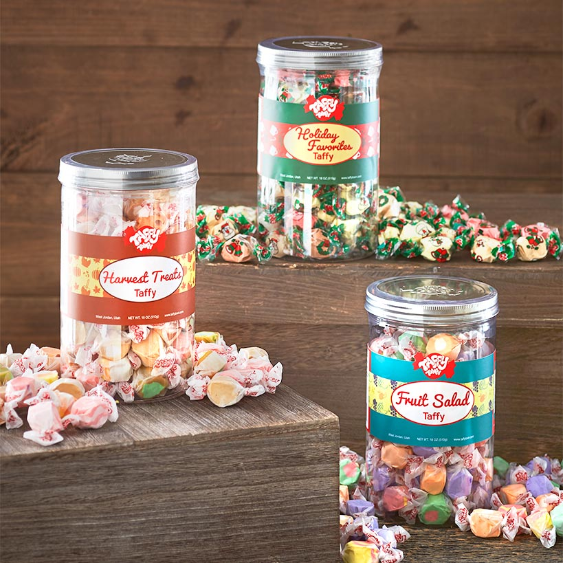 18-Oz  Gourmet Taffy Gift Canisters | LTD Commodities