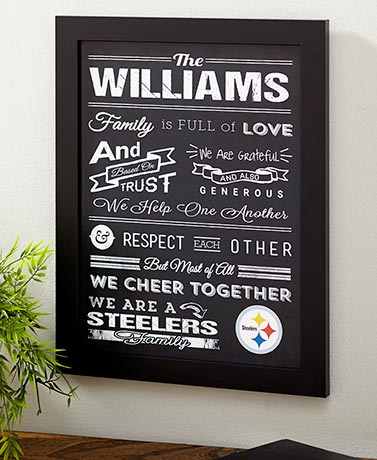 Personalized NFL Family Prints