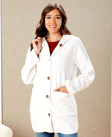 Women's and Women's Plus Hooded Fleece Coats