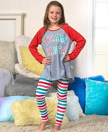 Girls' 2-Pc. Soft Holiday Pajamas