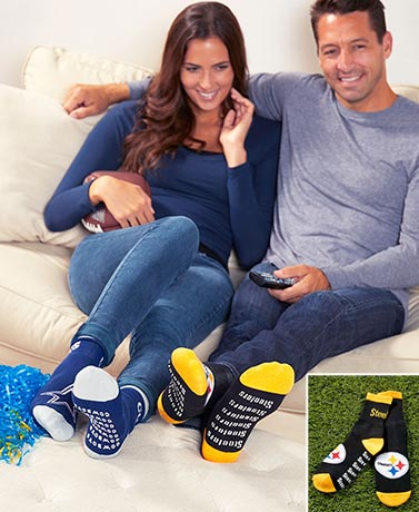 NFL Slipper Socks with Grippers