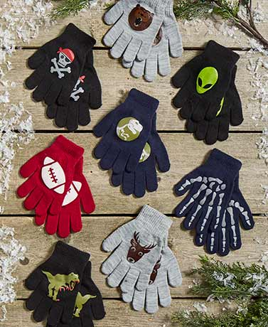 8-Pair Glove Sets - Boys