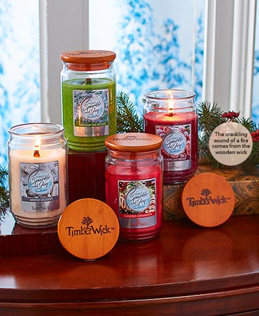 18-Oz. Timberwick™ Holiday Jar Candles