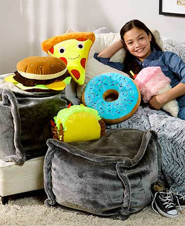 Novelty Food-Shaped Pillows