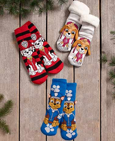 Kids' Licensed Plush-Lined Slipper Socks