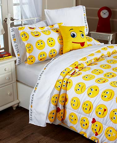 Emoticon Sheet or Comforter Set