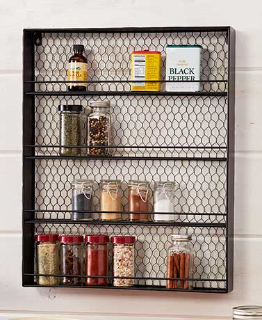 Farmhouse Kitchen Spice Racks