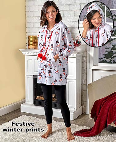 Hooded Nightshirt and Legging Sets