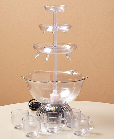 Lighted Party Fountain with 5 Cups