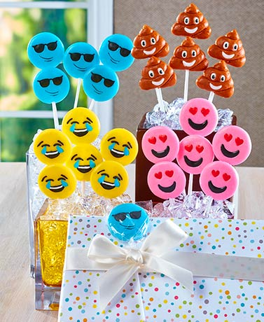Sets of 24 Emoticon Pops
