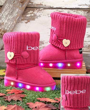 bebe Girls™ Toddler and Little Kids Light-Up Boots