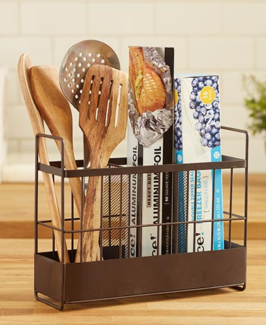 Countertop Wrap and Kitchen Utensil Holders