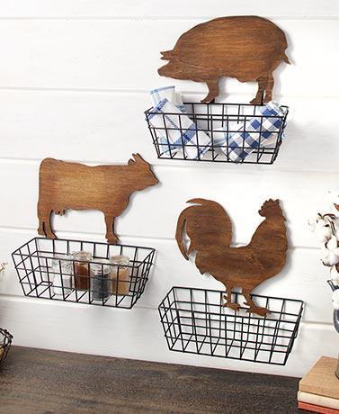 Farmhouse Wall Baskets