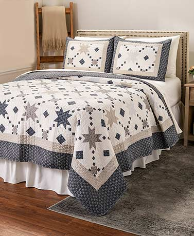 3-Pc. Country Star Quilt Sets