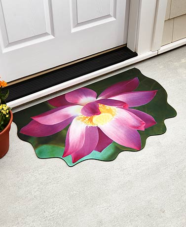 Shaped Floral Bloom Rubber Doormats