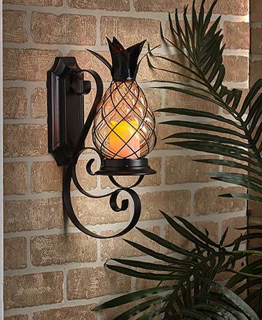 Pineapple Wall Sconce with Remote