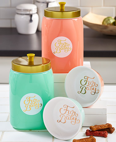 Fur Baby Treat Jars or Pet Bowls