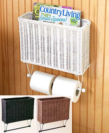 Rustic Toilet Paper Holder with Storage