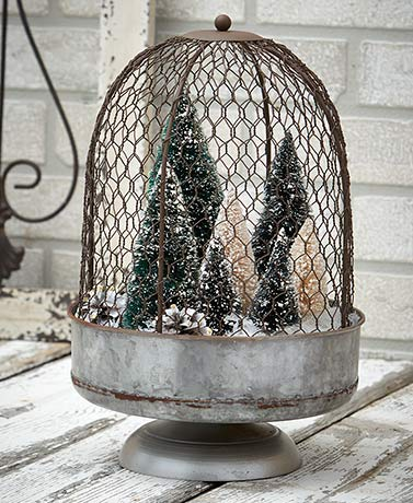 Oversized Chicken Wire Cloche
