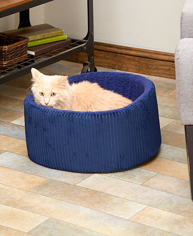 Plush Corduroy Pet Beds
