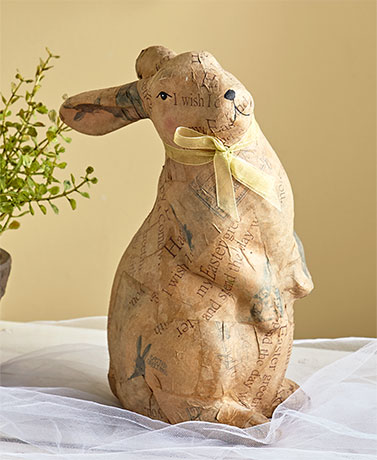 Vintage-Look Decoupage Bunnies
