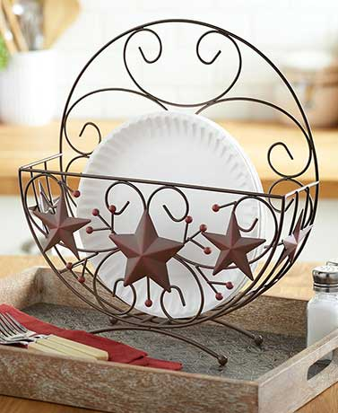Stars and Berries Decorative Plate Holder