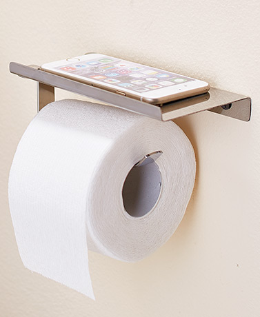 Wall Toilet Tissue Holder with Shelf
