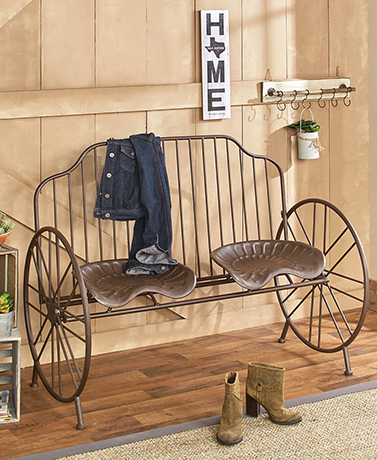 Metal Tractor Seat Bench