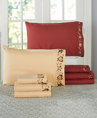 Hearts and Stars Embroidered Sheet Sets