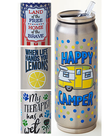 12-Oz. Stainless Steel Beverage Cans