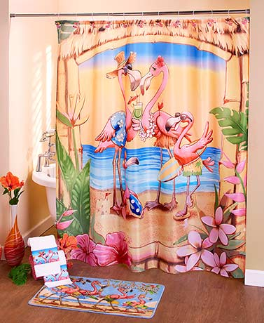 Flamingo Family Bathroom Collection