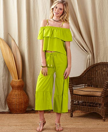 Ipanema Ruffled Pant Sets