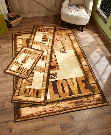 Live, Laugh, Love Rug Collection