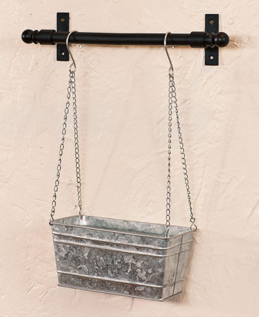 Hanging Metal Wall Planters - Galvanized