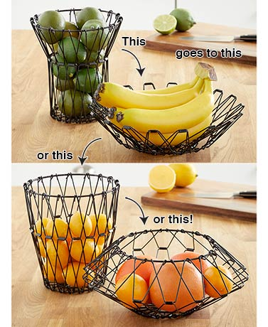 Foldable Wire Fruit Basket
