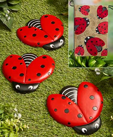 Ladybug Flag or Steppingstones