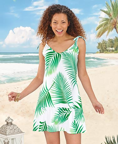 Tropical Print Beach Dresses