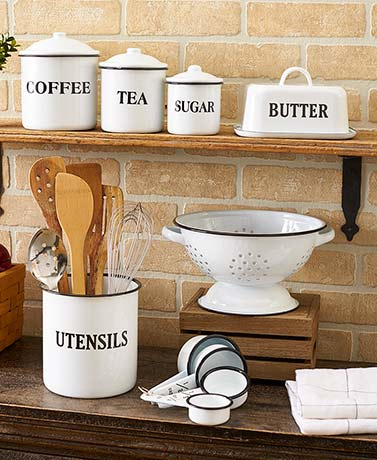 More Options Country Enamelware Kitchen Collection