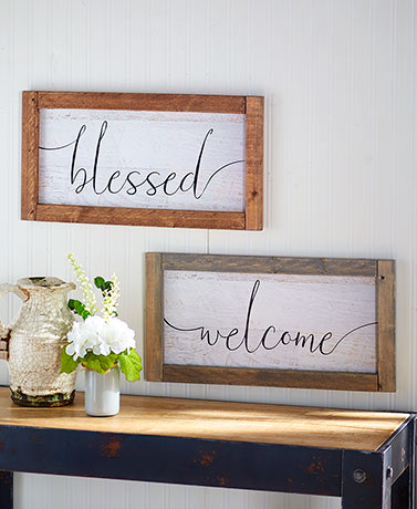 Rustic Home Framed Wall Signs