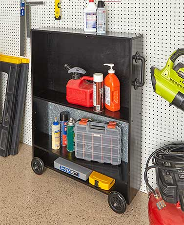 Industrial Garage Cart - Black