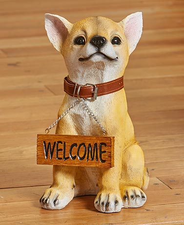 Welcome or Beware Dog Breed Statues - Chihuahua